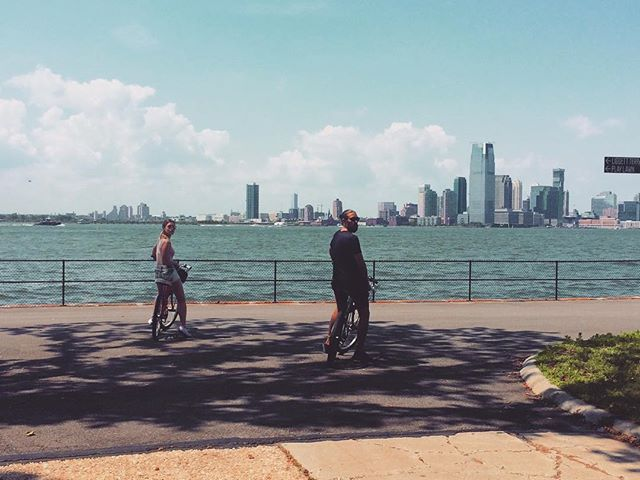 Cycling around Governors Island