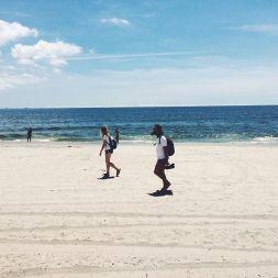Beach day in Brooklyn