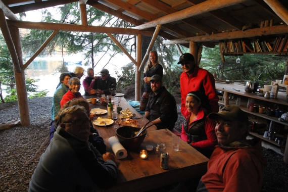 Dinner party at Orca Dreams