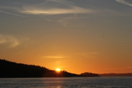 Sunset at Vancouver Island