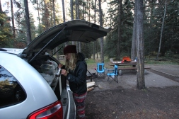 Travelminded People setting up camp at Whistlers Campground
