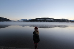 Cold morning at Pyramid Lake