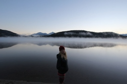 Cold morning at Pyramid Lake