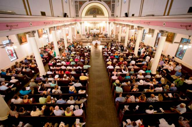 Sunday Mass with gospel, New Orleans