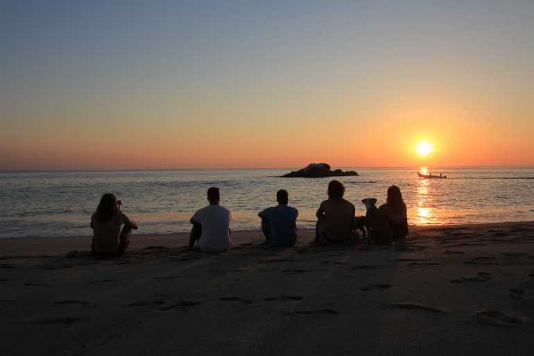 Sunset in La Punta, Puerto Escondido