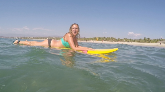 Surfing La punta, Puerto Escondido