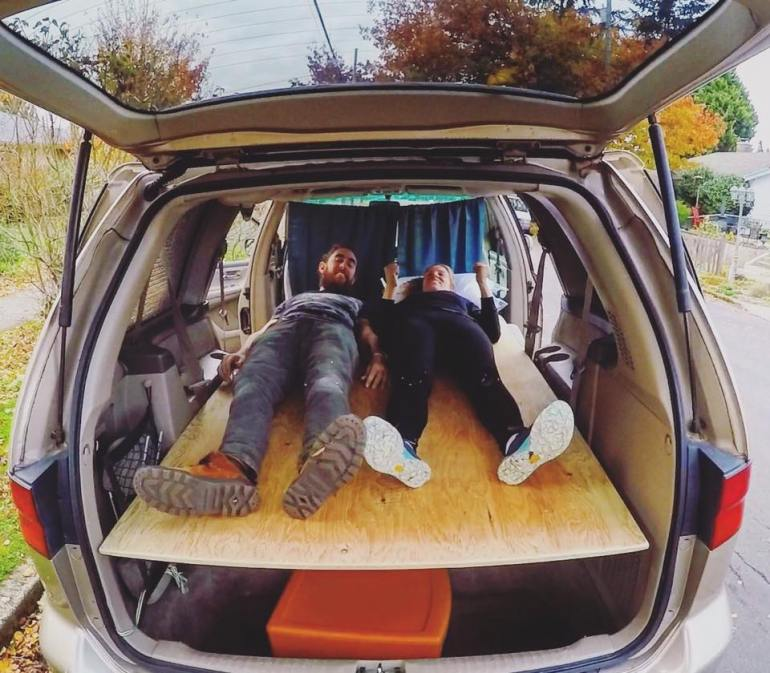 Building a bed in a van