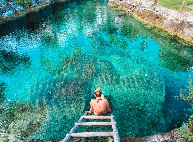 Cenote in Tulum, Mexico