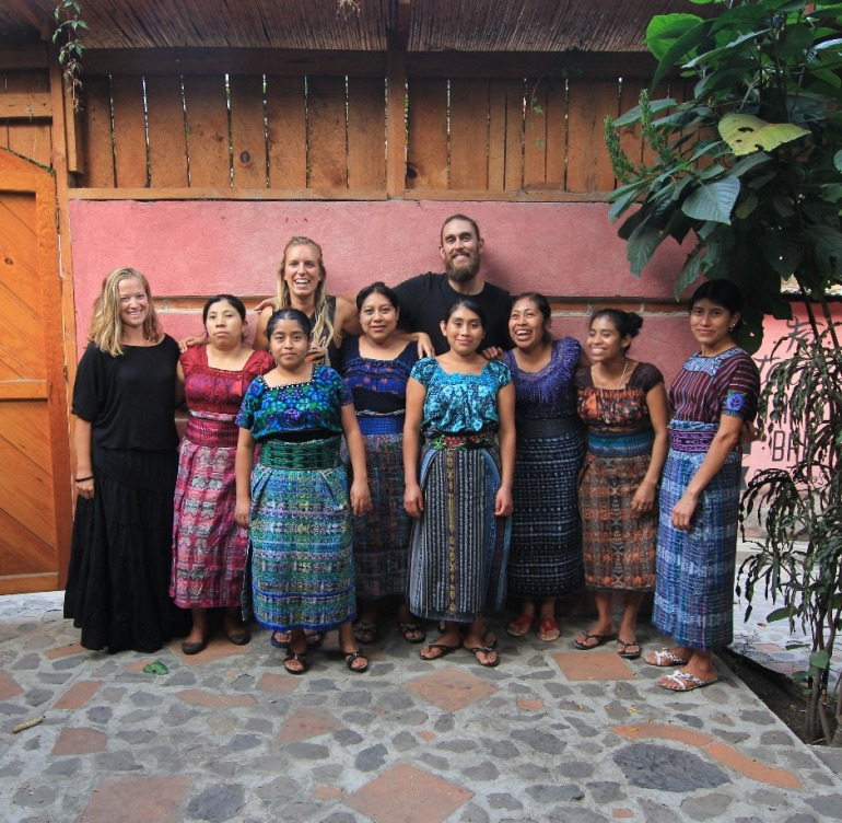 Working with the Mayan ladies in San Marcos , Guatemala
