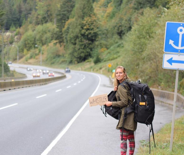 Hitchhiking to Whistler, Canada